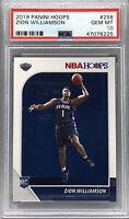 2019-20 Panini NBA Hoops Zion Williamson RC Rookie Card Pelicans PSA 10 Gem Mint