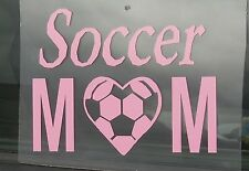 "Sports Soccer Oracal Vinyl Decal Sticker "" Soccer Mom """