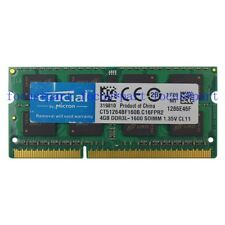 Micron 4GB PC3L-12800S DDR3L-1600Mhz 204pin Sodimm Laptop Notebook Memory 1.35V