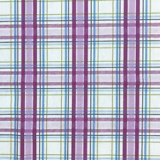 Prestigious Textiles Country Check Mulberry Cotton Fabric SAMPLE PIECE free P&P