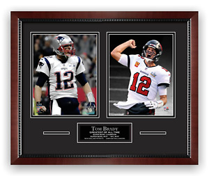 Tom Brady Unsigned Photo Framed to 16x20 Super Bowl Patriots Buccaneers