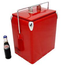 rétro Frigo uni rouge rafraichissant 17L vintage glacière mariage présent aac077