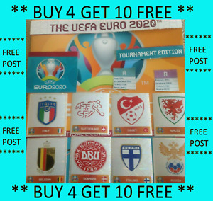⭐PANINI EURO 2020 TOURNAMENT EDITION STICKERS 1-230 BUY 4 GET 10 FREE⭐UPDATED!⭐