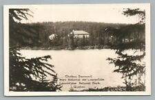 Chateau Beaumont RPPC Laurentides National Park QUEBEC Rare Antique Photo 1934