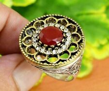 Mozambique Garnet Gemstone Gold Plated Fashion Jewelry Ring Size 9 Kr-4389 Gemstone