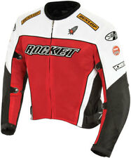 Joe Rocket Mens UFO 2.0 Black/Red/White Mesh Sport Motorcycle Jacket Medium