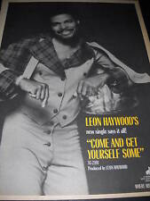 Leon Haywood Come And Get Some 1975 Promo Poster Ad