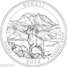 2012 DENALI NATIONAL PARK QUARTER - ALASKA- 2 COIN SET