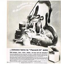 PUBLICITE 1968   AEG    la FAVORIT R  lave vaisselle