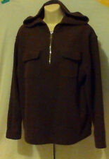 WOMANS HOODIE,BROWN,SIZE M,ZIPPER  AT CHEST