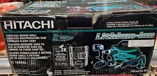 Hitachi KC18DHL NEW 18V Li-Ion 18-Volt Cordless 3-Tool Combo Kit NEW