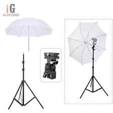 "Flash Photography Umbrella Kit 195cm Light Stand + Bracket B + 33"" Umbrella"