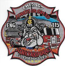 "Chicago  Engine-115, IL  ""Junkyard Dogs""  (4.5"" x 4.5"" size) fire patch"
