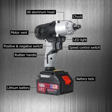 108VF Cordless Impact Wrench Gun 1/2'' Driver 1x 12800mAh Li-ion Battery 320Nm