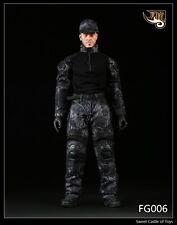 1/6 Feuer Mädchen Spielzeug FG006 Männchen schwarz Python Camouflage Tuch Set für Hot Toys DAM