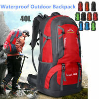40L Waterproof Backpack Sport Bag Hiking Camping Luggage Travel Rucksack  AU