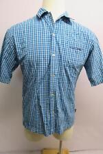 Sean john men button down short sleeve shirt plaid blue white size XL 20
