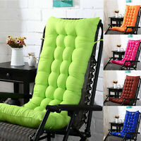 Garden Rocking Deck Chair High Back Chair Outdoor Thick Sun Seat Pad Cushions
