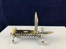 Rough Rider RR624 pocket knife 2 plain edge blades 1 clip point 1 pen point
