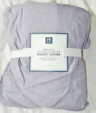 Pottery Barn Teen Organic Ruched Diamond Duvet Cover Twin Dusty Lavender New