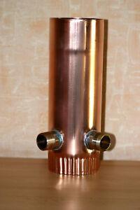 Regenwassersammler Kupfer Profiqualität  Mit Doppelanschluss 1Zoll