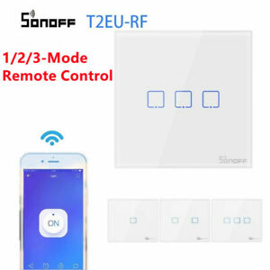Smart Wall Light Switch SONOFF T2 1/2/3  Gang Home Wifi Remote Control New UK