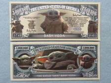 4 Bills: BABY YODA Disney / Star Wars Character ~ $1,000,000 One Million Dollars