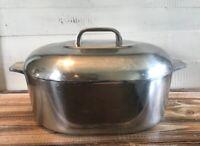 Vintage Wagner Ware Magnalite Sidney O 4265 P Roaster Dutch Oven w/ Trivet Rack