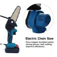 Cordless Electric Chain Saw Wood Cutter Mini One-Hand Saw Woodworking +Battery A