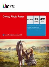 4x6 Glossy Inkjet Photo Paper A6 102x152mm 6x4 230 240Gsm - 160 Sheets Uinkit