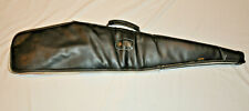 "VINTAGE 44"" KOLPIN BLACK LEATHER w/PADDED LINING GUN CASE FOR RIFLE"