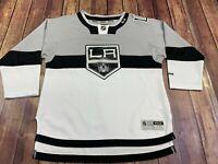 Los Angeles Kings Reebok White/Gray NHL Hockey Jersey - Youth L/XL