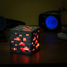 Minecraft Redstone Light Licensed Geek Night Touch Lamp Art Decor Collectible