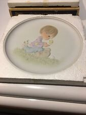 Enesco Precious Moments Plate E- 9257 I Believe In Miracles 1982 Limited ''