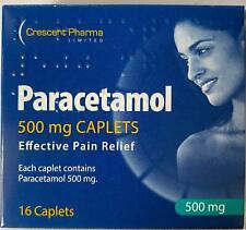 16 Paracetaml Headache Migraine Back Pain Relief Painkillers 500mg Tablets