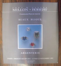 CATALOGUE DE VENTE MILLON ROBERT BIJOUX ARGENTERIE DROUOT 22 NOVEMBRE 1993