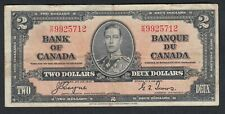 1937 CANADA 2 DOLLARS BANK NOTE COYNE / TOWERS