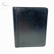 Franklin Covey Quest Open Top Grain Leather 7 Ring Binder Black 8 X 95