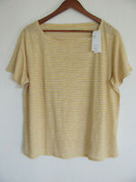 Eileen Fisher Square Neck Tee/Top-100% Organic Linen-Marigold-Size 1X -NWT $188