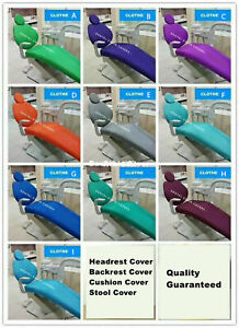 1 Set Dental Unit Cover Dentist Chair Stool Protector Sleeves Cloth 10 Colors