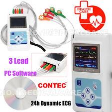 NEW 3 canali dinamici ECG/EKG Holter ECG TLC9803 24Ore analizzatore Contec CE