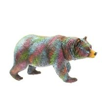 Multi Color Bear Statue Figurine 9 Inch