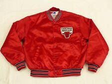 Chicago Bulls Starter Bomber USA Jacket NBA Vintage Basketball Size: XL like New