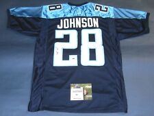 CHRIS JOHNSON AUTOGRAPHED TENNESSEE TITANS JERSEY AASH
