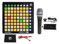 Novation LAUNCHPAD MINI MK2 MKII USB MIDI DJ Controller 64-Pad+Mic+Cable+Clip