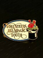 Vintage Collectible Volunteers Have That Magic Touch Colorful Metal Pinback