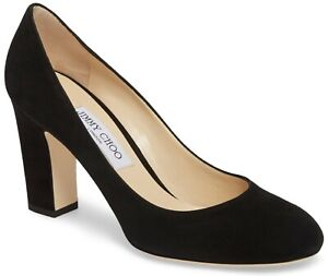 Jimmy Choo Billie 85 Suede Pump Heels Shoes Black Size 40, US 10 Made in Italy