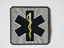 Star of Life - reflektierend -   Stickemblem Patch Abzeichen  75 mm