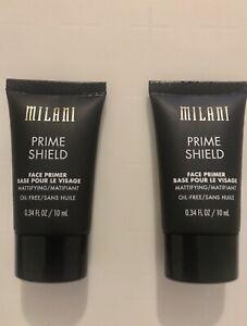 2 x 10ml Milani Prime Shield Face Primer Mattifying + Pore Oil Free 20ml