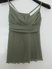 Olive Green V Neck Strappy Top in Size 10 by Truworths